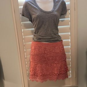 Free people lace skirt Size 12